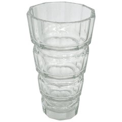 Josef Hoffmann Designed Crystal Glass Vase
