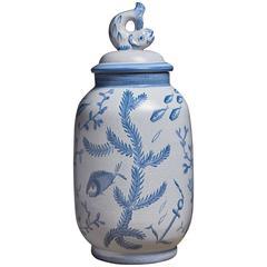 Eva Jancke-Bjork Ceramic Vase for Bo Fajans, Sweden, 1940s