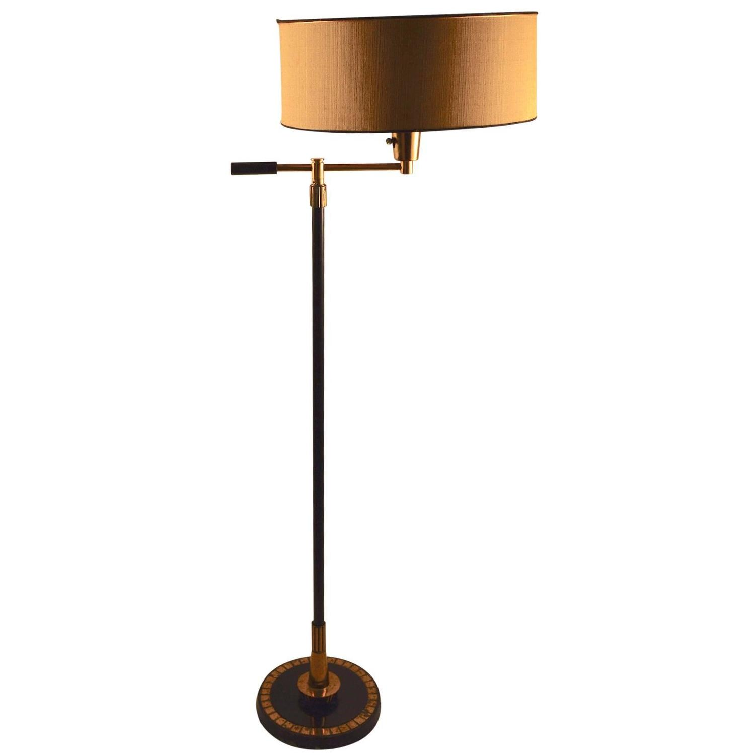 mid century floor lamp by stiffel for sale at 1stdibs. Black Bedroom Furniture Sets. Home Design Ideas