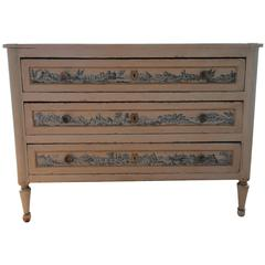 French 19th Century Hand-Painted Chest