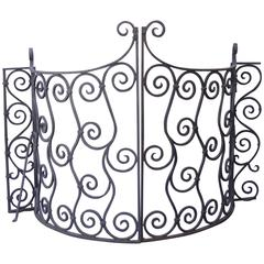1920s Curved Set of Iron Gates