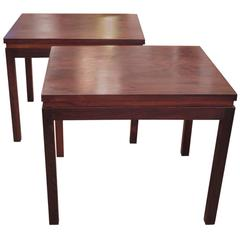 Pair of Rosewood Side or End Tables by Fabian