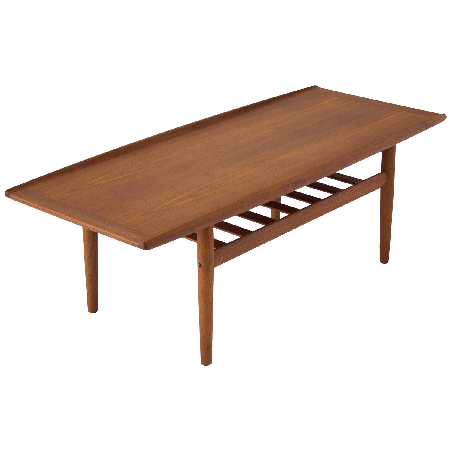Grete Jalk Coffee Table with Slatted Shelf at 1stdibs