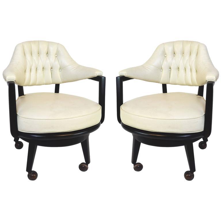 Pair of Monteverdi-Young Swivel Chairs