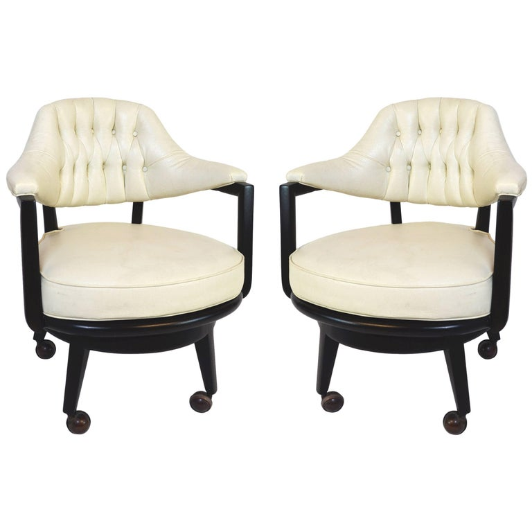 Pair of Monteverdi-Young Swivel Chairs For Sale