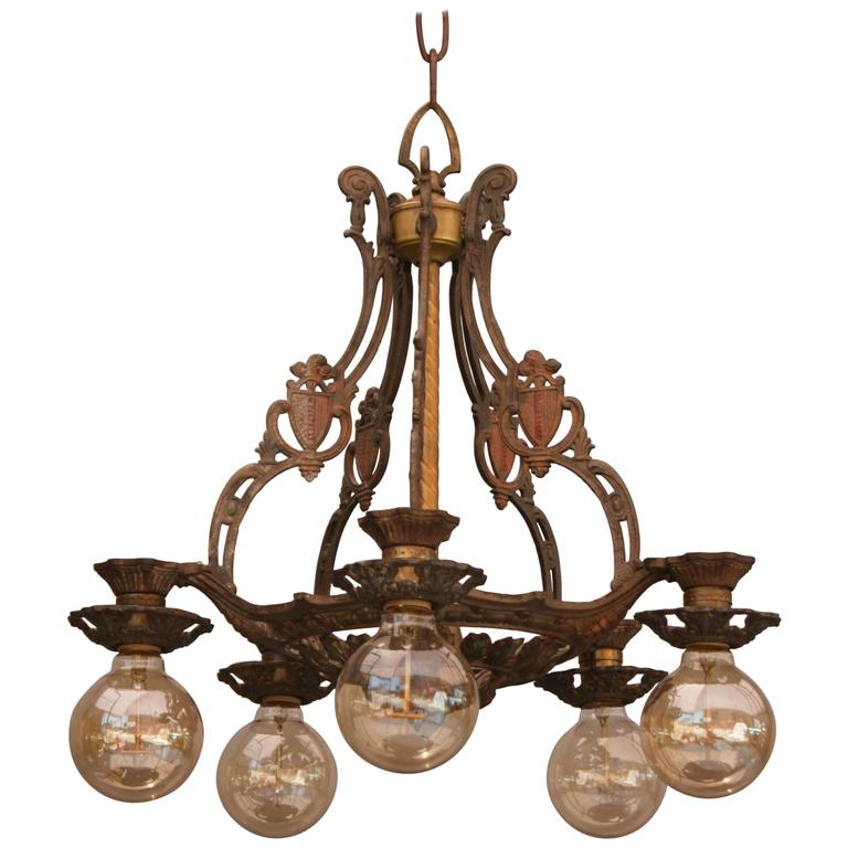 Items Similar To Lighting Rustic Chandelier Vintage 1920 S: 1920s Down-Light Chandelier At 1stdibs
