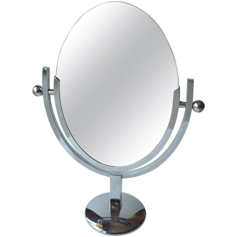 Charles Hollis Jones Vanity Chrome Mirror