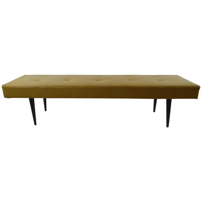 Mid Century Bench In Vinyl At 1stdibs