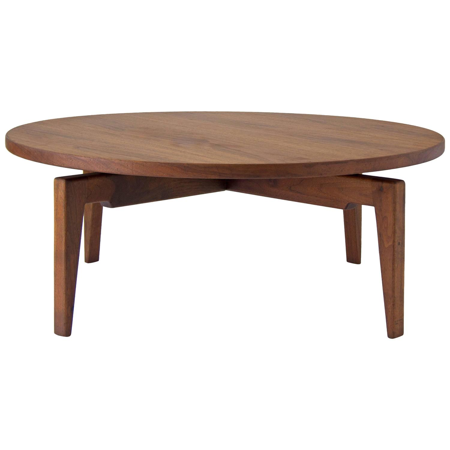 Jens Risom Lazy Susan Coffee Table At 1stdibs