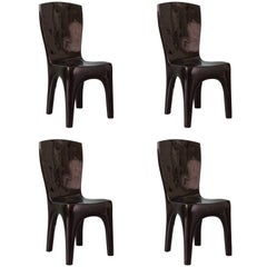 Dining Chairs in Lacquer by Jacques Jarrige