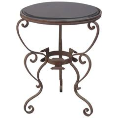 1920s Wrought Iron Side Table