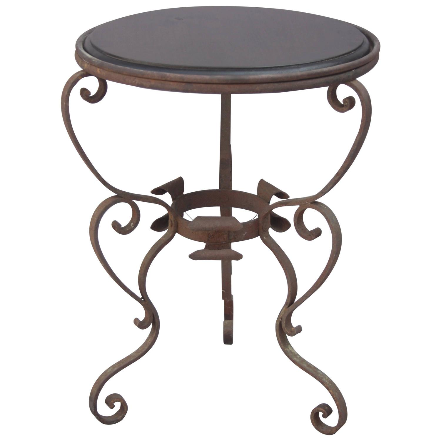 1920s Wrought Iron Side Table For Sale at 1stdibs : 5366633z from www.1stdibs.com size 1500 x 1500 jpeg 77kB