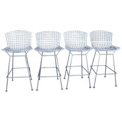 Four Barstools by Harry Bertoia for Knoll