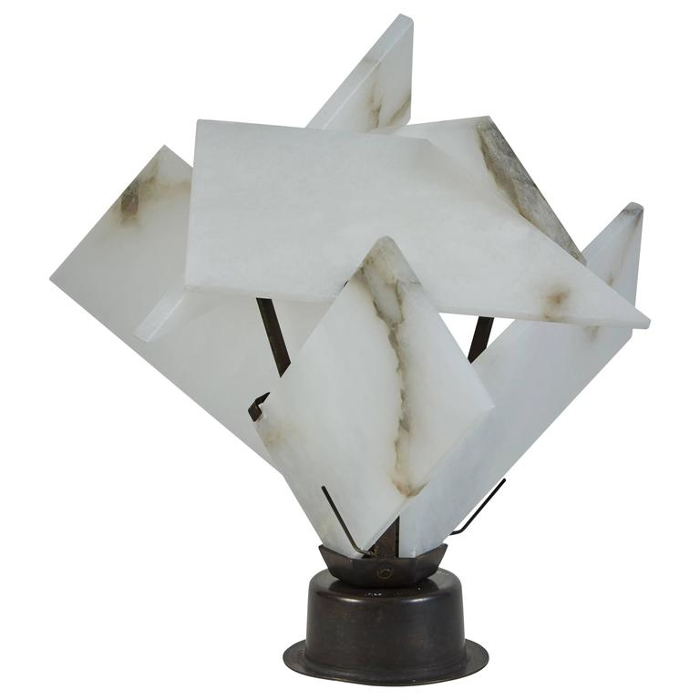 Flower Table Lamp by Pierre Chareau Model FLE 130 A For Sale