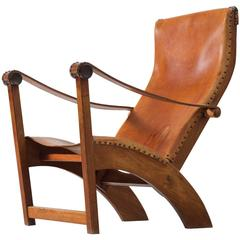 Mogens Voltelen Copenhagen Chair in Mahogany and Cognac Leather