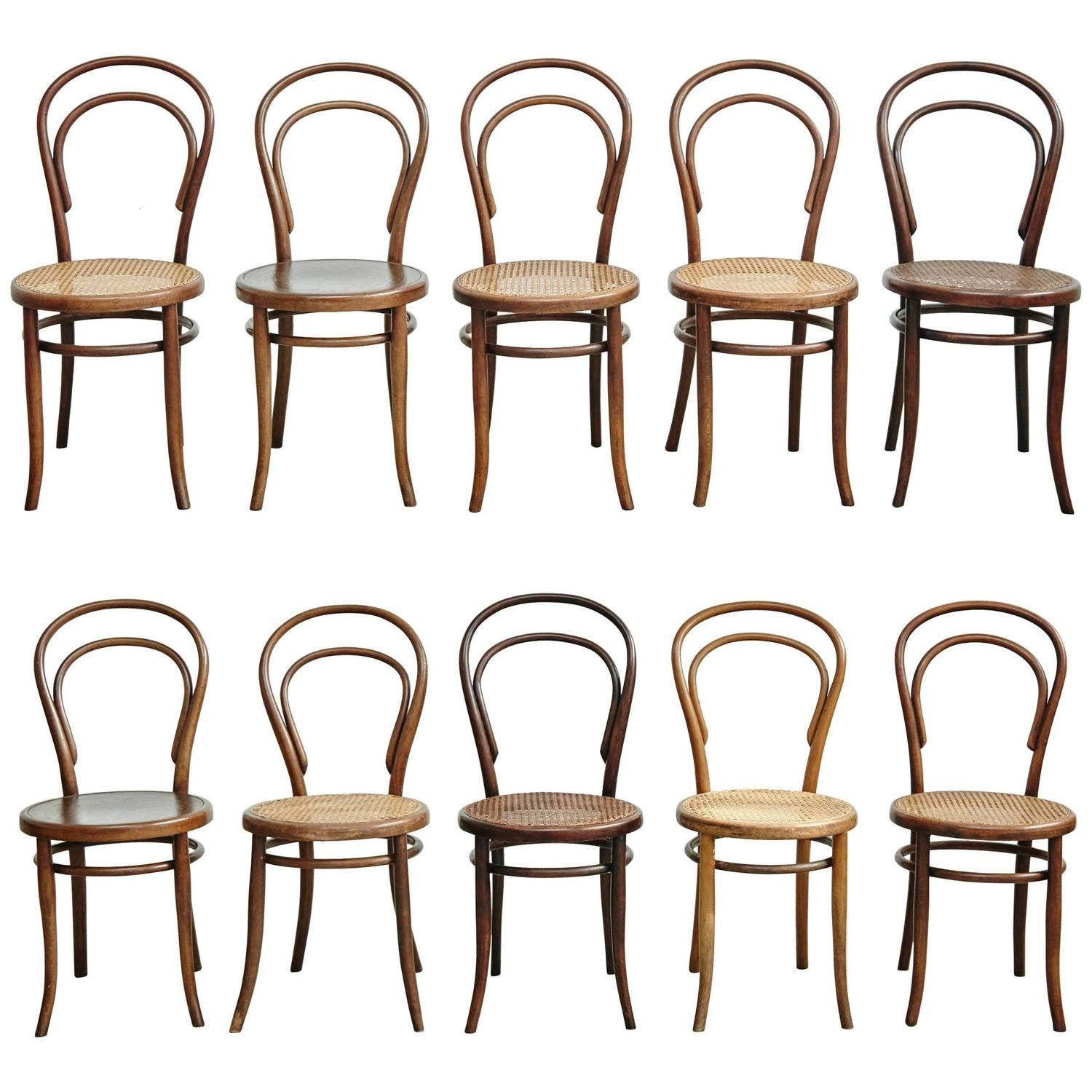 Set Of Ten Chairs By Thonet, Fischel, Kohn And Unknown, Circa 1900 At  1stdibs