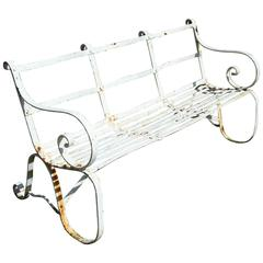 Regency Wrought Iron Garden Seat/ Bench