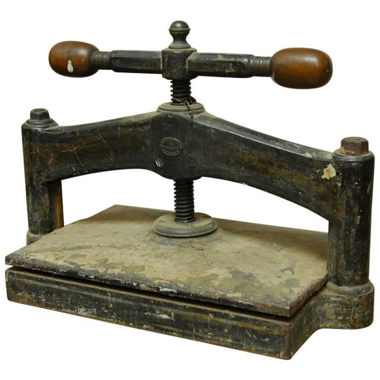 19th Century English Book Press For Sale