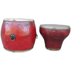 Red Chinese Drums, circa 1910