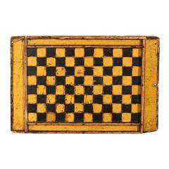 Antique American Painted Two Sided Game Board
