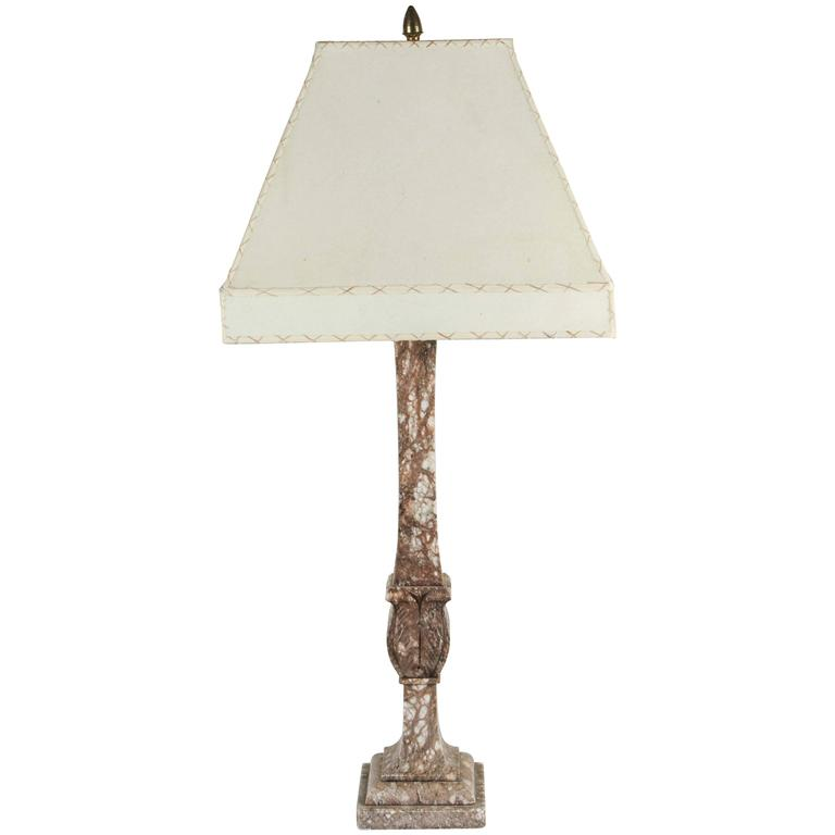 Italian Marble Table Lamp, circa 1920s 1
