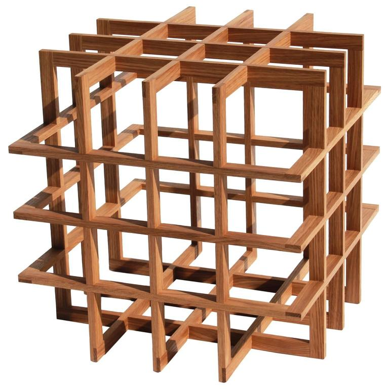 Quadrat Cube 20 Side Table in White Oak by Pelle For Sale