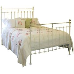 Brass and Iron Bed in Cream, MK78