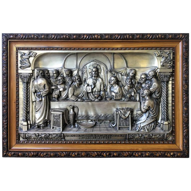 Quot The Last Supper Quot Metal Relief At 1stdibs