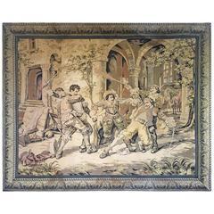 Large Antique Italian Tapestry, circa 1880. Cesare Auguste Detti