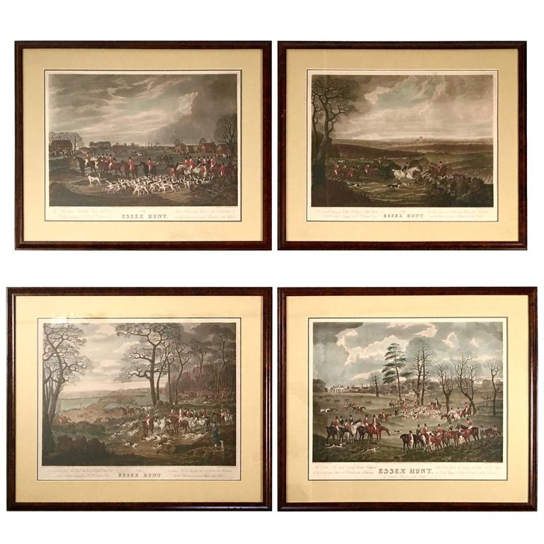 English Fox Hunting Prints Of The Essex Hunt At 1stdibs