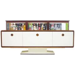 Rosewood Sideboard with Electric Bar 1970s, James Bond 007