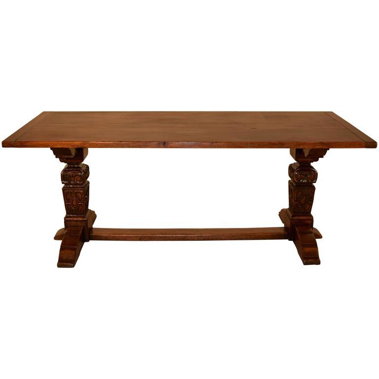 19th Century English Oak Trestle Table at 1stdibs : 5371673l from www.1stdibs.com size 768 x 768 jpeg 18kB