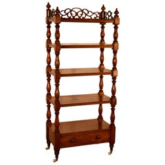 19th Century English Mahogany Etagere