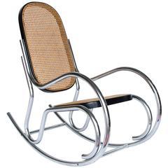 Circa 1970 Chrome Rocking Chair