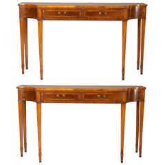 Pair of English George III Style Console Tables