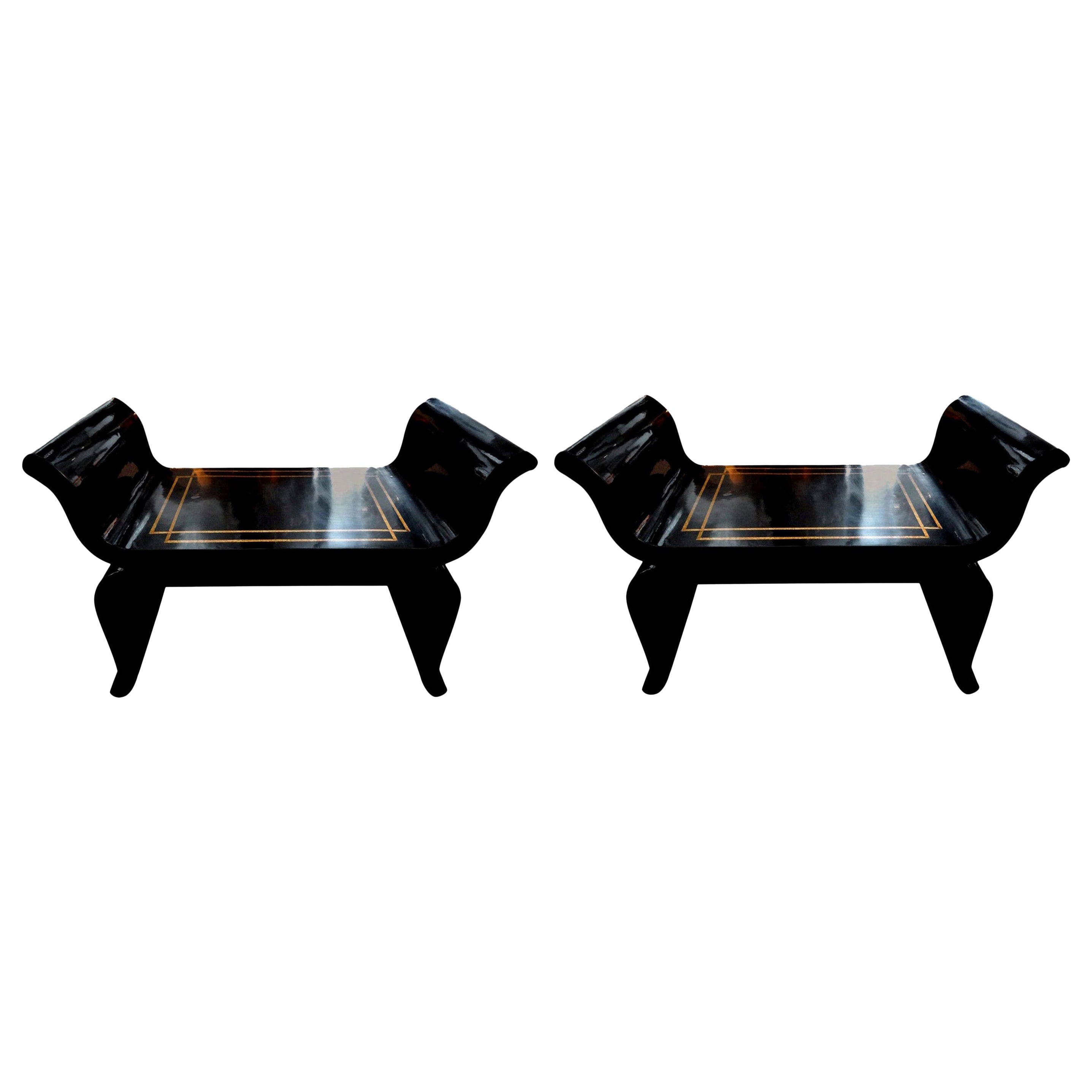 Silver Leaf Bench, In The Manner Of James Mont At 1stDibs