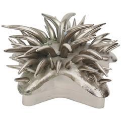 Nickel Silver/Silver Bronze Sea Urchin Two-Part Sculptural Box