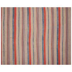 Kilim, Flat-Weave Jajim from Southern Turkey, Mid-20th Century