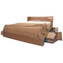Shimna Liffey Platform Bed with Hidden Storage Drawers, Queen-Size