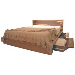 Shimna Liffey Platform Bed with Hidden Storage Drawers, Queen-Size