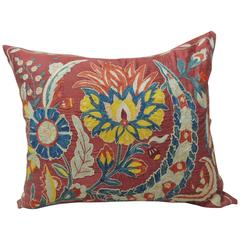 19th Century Silk Embroidery Suzani Pillow