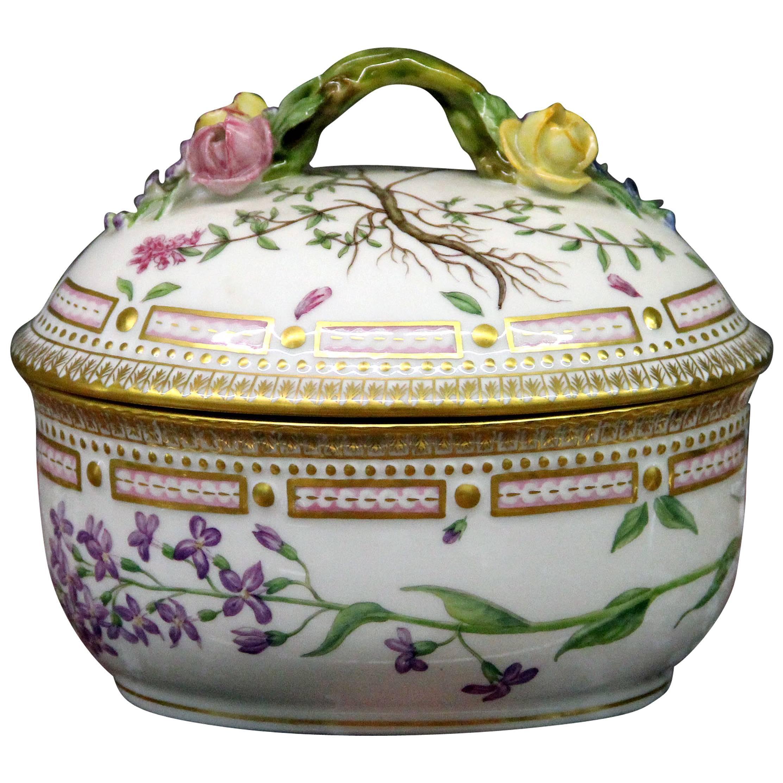 Royal Copenhagen Flora Danica Large Sugar Bowl with Cover