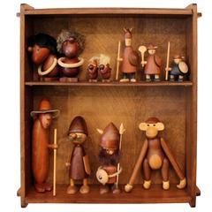 Kay Bojesen Hans Bolling Jacob Jensen Danish Wooden Figures Collection