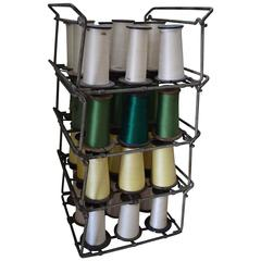 Industrial Thread Spooler with 36 Spools of Colorful Thread