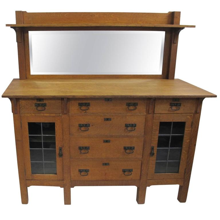 Arts and Crafts Mission Oak Sideboard Buffet