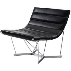 George Nelson 6380 'Catenary' Chair in Black Leather