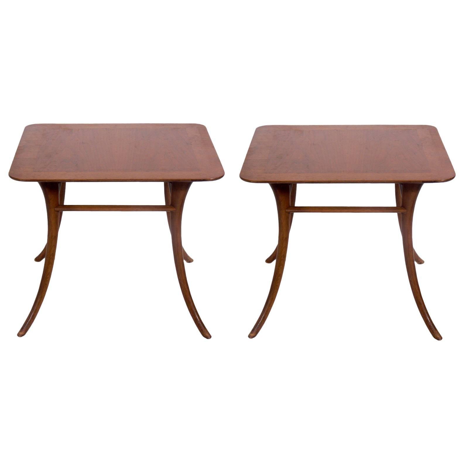 Pair of Klismos Leg Side Tables by T.H. Robsjohn-Gibbings