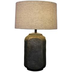 Huge Volcanic Glazed Table Lamp