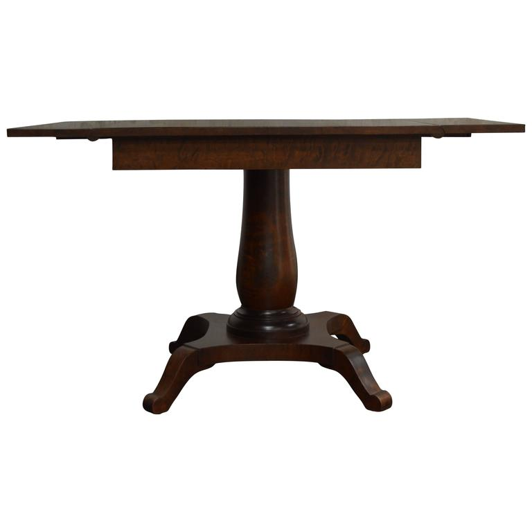 Swedish Karl Johan Biedermeier Drop-Leaf Center Table