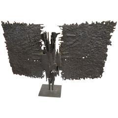 Brutalist Mid-Century Bronze, T. Mori Untitled 1962